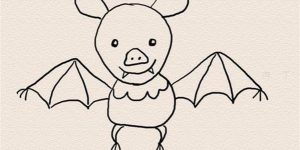 How to Draw a Bat For Kids